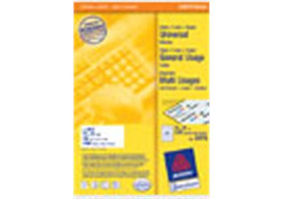 Avery/Zweckform Etiketten, 70 x 36 mm, 2400 Etiketten auf 100 Blatt A4 3475