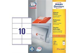 Avery Zweckform Universal-Etiketten 3425, Etikettengrösse: 105 x 57 mm
