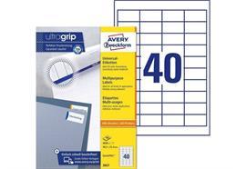 Avery Zweckform Universal-Etiketten 3657 48.5 x 25.4 mm