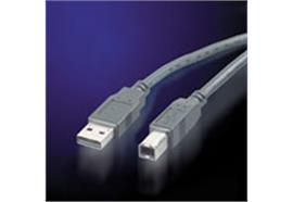 BLANK USB 2.0 Kabel, Typ A-B, schwarz, 3m
