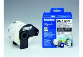 Brother P-touch DK-11209 Adress-Etiketten (Klein) 800Stk./Rolle 29x62mm