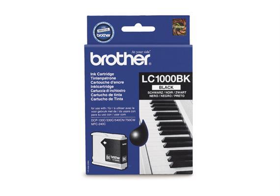 Brother Tinte LC1000BK schwarz, zu DCP130C, 330C/540CN/750CW/MFC240C