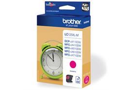 BROTHER Tintenpatrone XL magenta LC-125XLM 1'200 Seiten