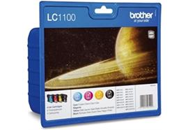 BROTHER Valuepack Tinte CMYBK LC-1100VA MFC-6490CW 450/325 Seiten