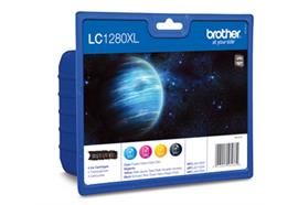 Brother Valuepack Tinte LC-1280XL - CMYBK, 2400/1200 Seiten