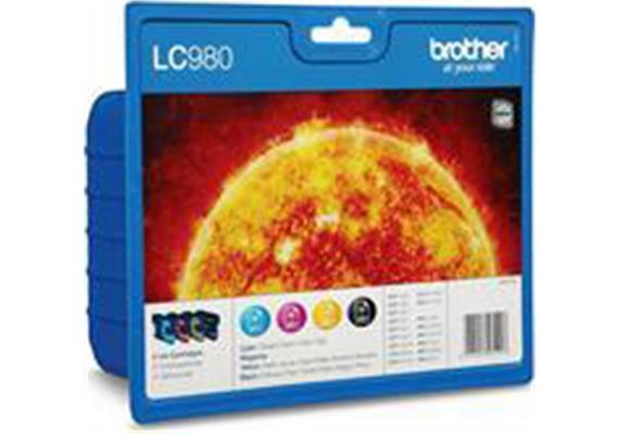Brother Valuepack Tinte LC980VAL, CMYBK, 260/300 Seiten