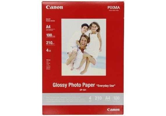 Canon Glossy Photo Paper 210g A4 GP501A4 InkJet, Everyday 100 Blatt