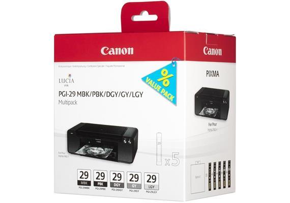 Canon Multipack Tinte MBK/PBK/DGY/GY/LGY/CO PGI-29 PIXMA Pro-1 6x36ml