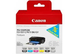 Canon PGI-550/CLI-551 Multip. PGBK 15ml, / C/M/Y/BK/GY 7ml PIXMA iP8750,MG7150/MG6350