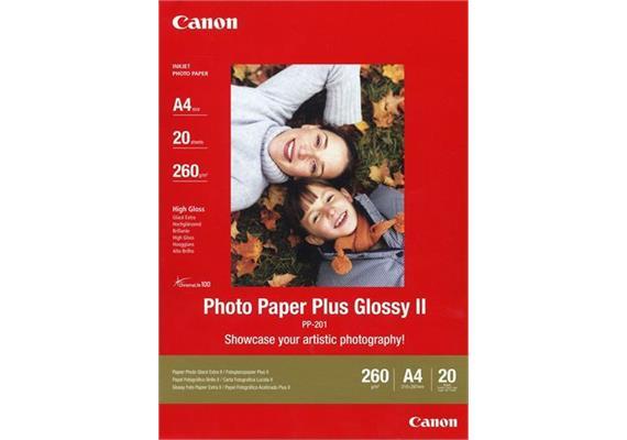 Canon Photo Paper Plus II PP-201 - Fotopapier glänzend A4, 275g/m2 - 20 Blatt