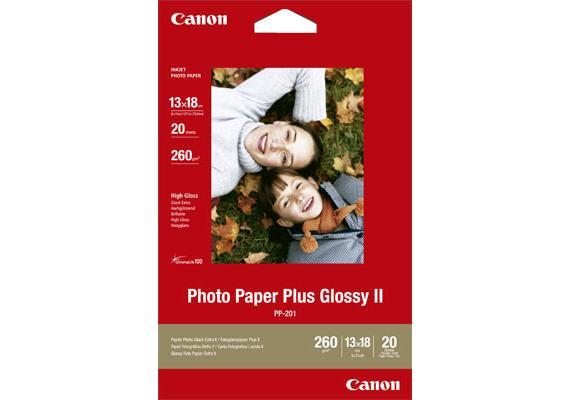 Canon Photo Paper Plus II PP-201 | Fotopapier Glanz | 130 x 180 mm | 260 g/m2 | 20 Blatt