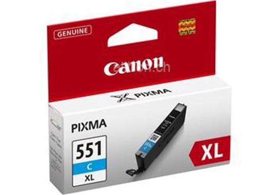 Canon Tintenpatrone XL cyan CLI-551 PIXMA MG5450 11ml