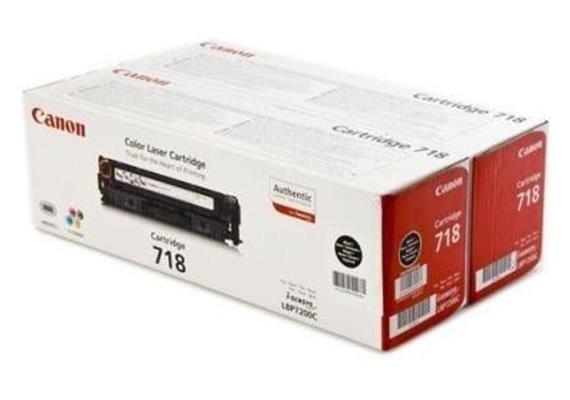 Canon Toner-Modul 718 | schwarz | 2x3'400 Seiten | zu LBP7200,7660,7680,8330,8340,8350,836