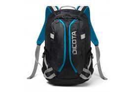 """Dicota Sport Backpack Active, schwarz-blau, mit Einsteckfach für 10"""" Tablets,"""