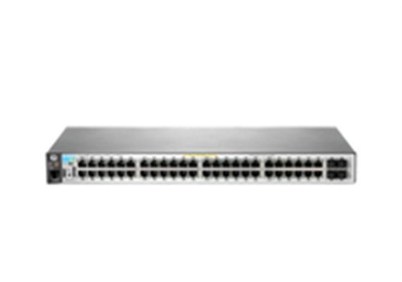 HP 2530-48G-PoE+: 48 Port L2 Managed PoE+Switch, 48x1Gbps, 4xSFP, LAN/USB Konsole,