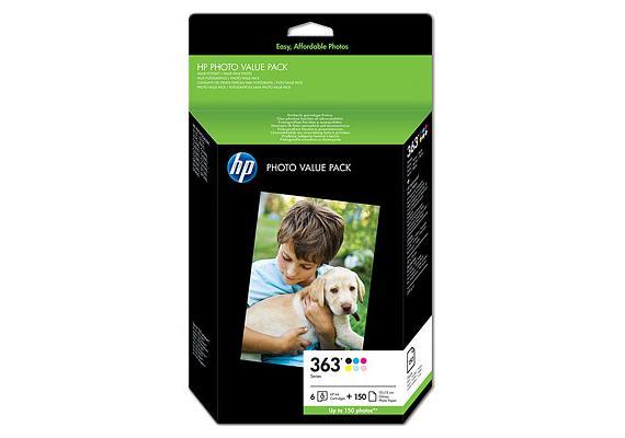 HP 363 Serie Value Fotoset - 150 Blatt/10 x 15 cm (Q7966EE)