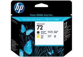 HP Druckkopf 72 - schwarz matt und gelb (C9384A)