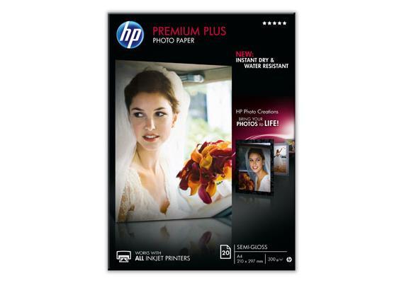 HP Fotopapier Premium Plus CR673A   A4   300g   matt   20 Blatt   Wasserresistent   Tinte