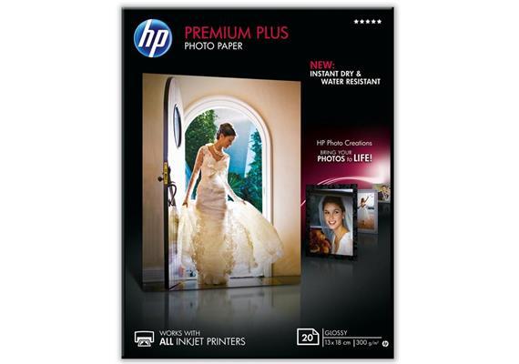 HP Fotopapier Premium Plus CR676A | 13x18 cm | 300g | glanz | 20 Blatt | Wasserr. | Tinte