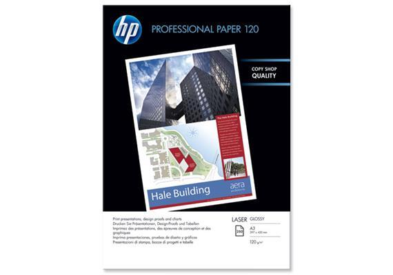 HP Prof. Paper | A3 | Hochglanz | Laser | 120g | 250 Blatt | CG969A