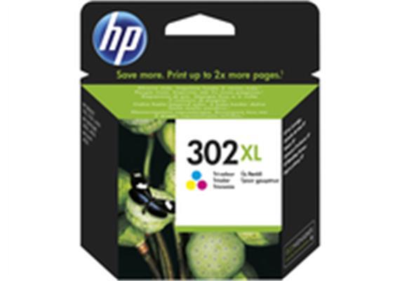 HP Tinte 302XL - farbig (F6U67AE) 330 Seiten