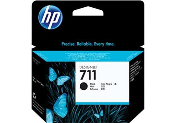 HP Tinte 711 - schwarz (CZ133A) 80ml