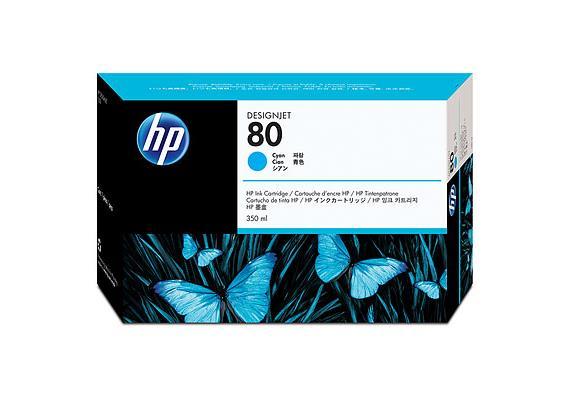 HP Tinte 80 - Cyan (C4846A) 350 ml