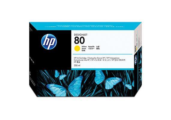 HP Tinte 80 - Gelb (C4848A) 350 ml