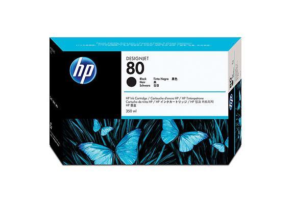 HP Tinte 80 - Schwarz (C4871A) 350 ml