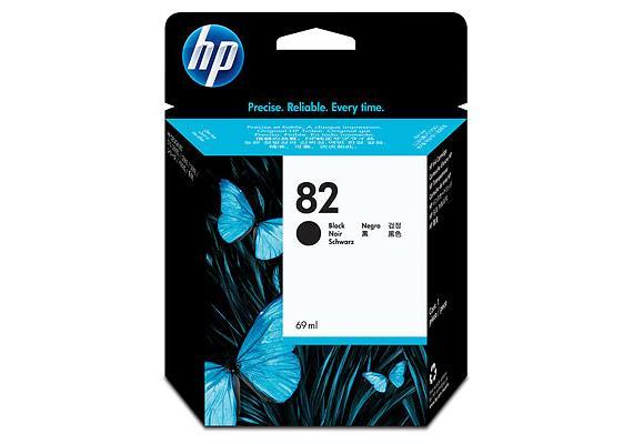HP Tinte 82 - Schwarz (CH565A) 69 ml