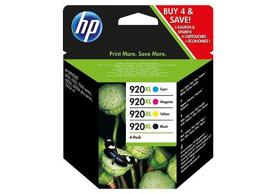 HP Tinte 920XL - schwarz / dreifarbig (C2N92AE) Combo-Pack