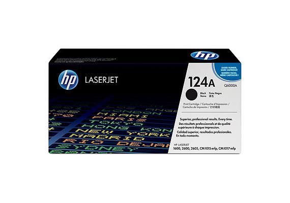 HP Toner 124A - schwarz (Q6000A)