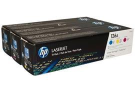 HP Toner 126A - CMY (CF341A) Tri-Pack, je 1'000 Seiten