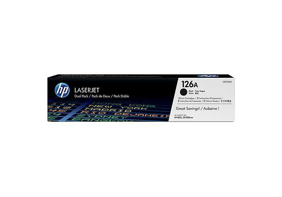 HP Toner 126A - schwarz (CE310AD) 2er-Pack, 2 x 1'200 Seiten