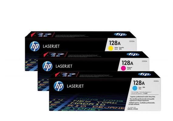 HP Toner 128A - CMY (CF371AM) Tri-Pack, 1'300 Seiten