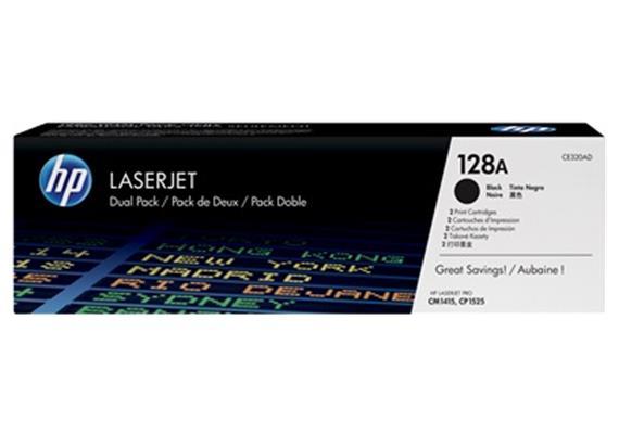 HP Toner 128A - schwarz (CE320AD) 2er-Pack, 2 x 2'000 Seiten