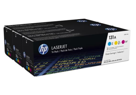 HP Toner 131A - CMY (U0SL1AM) Tri-Pack, 1'800 Seiten