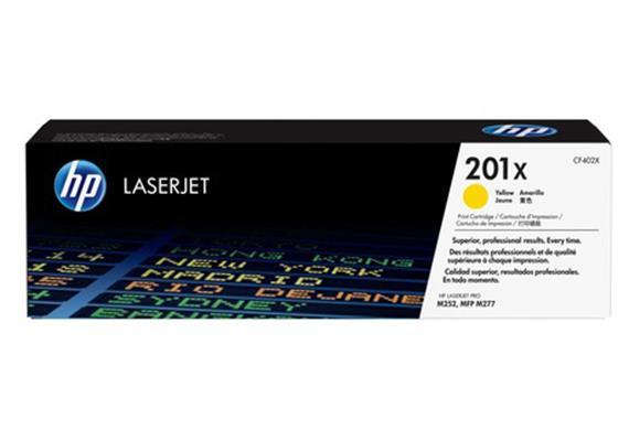 HP Toner 201X - gelb (CF402X) 2'300 Seiten