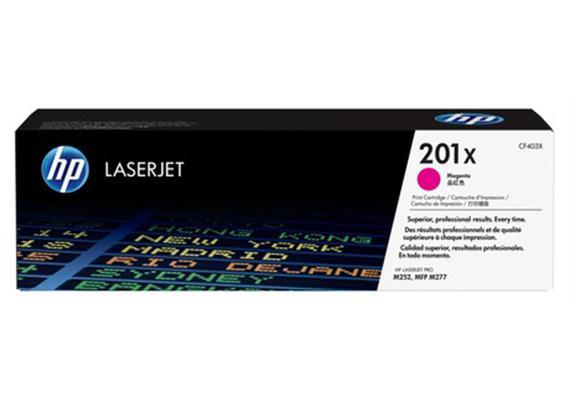 HP Toner 201X - magenta (CF403X) 2'300 Seiten