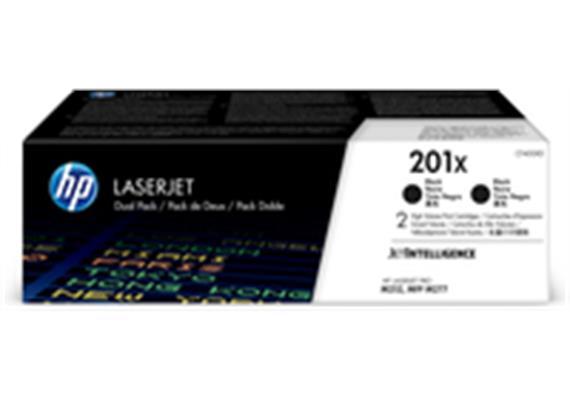 HP Toner 201X schwarz (CF400XD), 2 Stück (2 x 2800 Seiten)