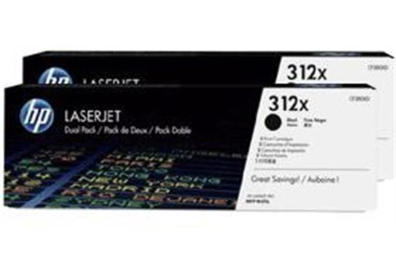 HP Toner 312X - schwarz (CF380XD) 2er-Pack, 2 x 4'400 Seiten