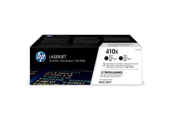 HP Toner 410X - schwarz (CF410XD) Duo-Pack, 2 x 6'500 Seiten