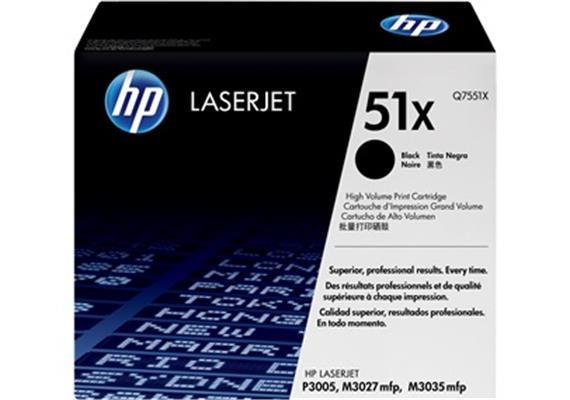 HP Toner 51X - schwarz (Q7551X)