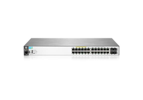 HPE Aruba 2530-24G-PoE+: 24 Port L2 Managed PoE+Switch, 24x1Gbps, 4xSFP, LAN/USB Konsole,