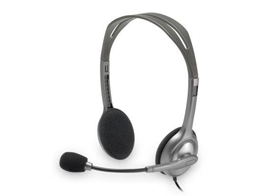Logitech H110 Stereo Headset | Mikrofon mit Rauschunterdrückung | 3.5mm Klinkerstecker
