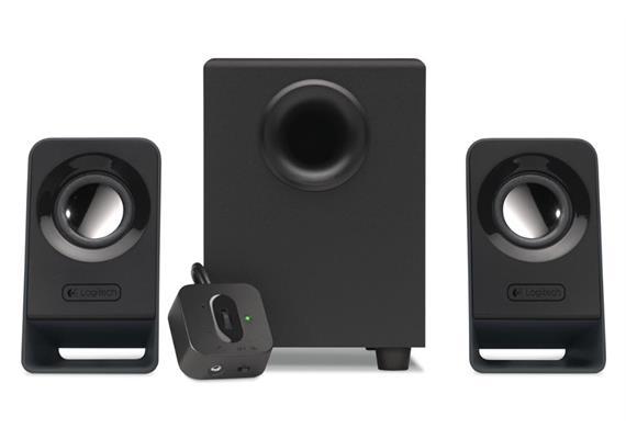 Logitech Z213 Lautsprechersystem 2.1, schwarz