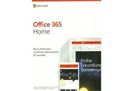 Microsoft Office 365 Home, Box, Vollversion, 6 User, 1 Jahr