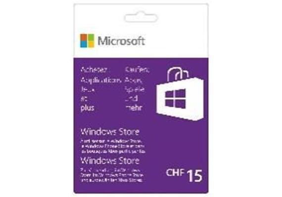 Microsoft Windows Store Guthabenkarte 15 CHF, Deutsch/Französisch
