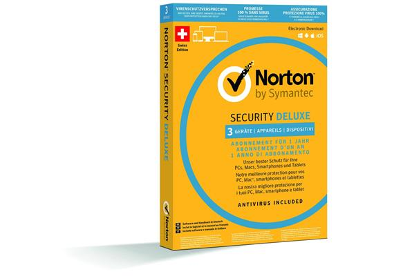 Norton Security Deluxe, 1 User 3 PC [PC/Mac/Android/iOS] (D/F/I)