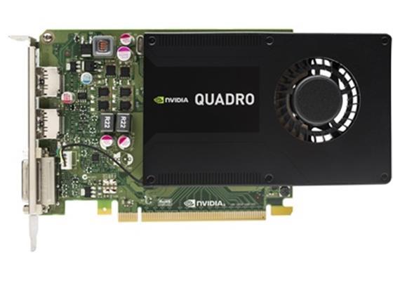 NVIDIA Quadro K2200 4GB, 1x Dual-Link DVI-I, 2x DP incl. 1x DP to DVI Adapter